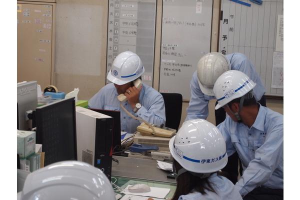 伊東ガスの防災訓練